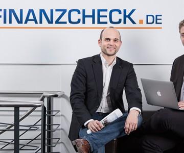 Porträtfotografie mit den Geschäftsführern von Finanzcheck.de